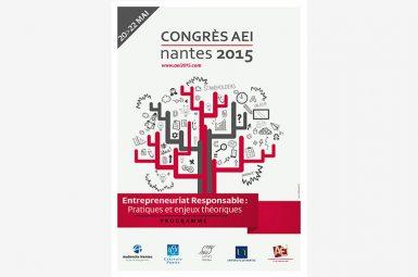 La GRP Team au 9e Congrès de l'Académie de l'Entrepreneuriat et de l'Innovation (AEI) à Nantes du 20 au 22 mai 2015