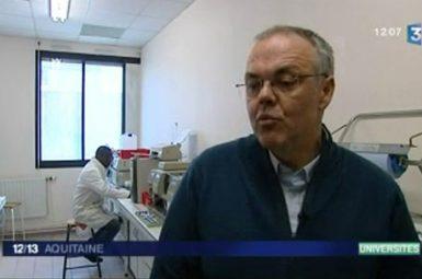 France 3 Aquitaine s'invite dans le laboratoire LCPO pour le reportage sur les actions de la fondation
