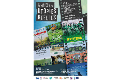 La chaire co-organise le 1er Festival du cinéma des utopies réelles !