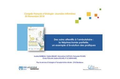 Participation aux 39e Journées de l'infirmière en urologie