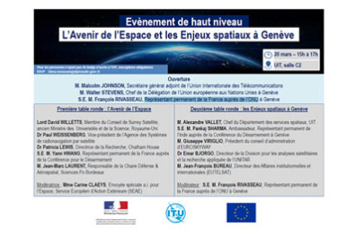 Conférence sur l'Espace stratégique à Genève