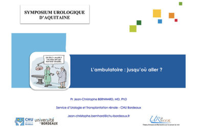 Contribution au Symposium Urologique d'Aquitaine