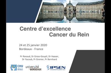 Accueil des membres du «Centre d'excellence sur le Cancer du Rein»