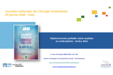 Intervention lors des journées nationales de chirurgie ambulatoire