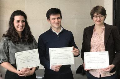 Trois lauréats pour les prix de thèse et de mémoire