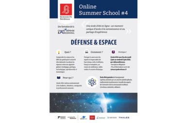 Bordeaux Defence & Space Online Summer School 2020