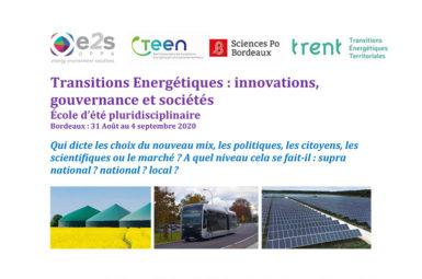 Une école d'été sur les transitions énergétiques