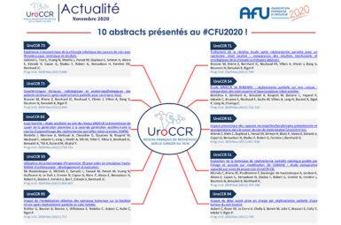 10 abstracts UroCCR présentés lors du CFU2020