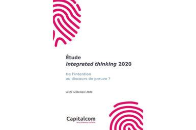 Contribution à l'étude integrated thinking 2020 de Capitalcom