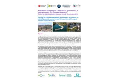 Nouvelle édition de l'école d'été sur les transitions énergétiques