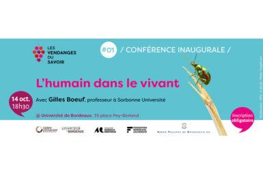 Conférence inaugurale 2021 – «L'humain dans le vivant»
