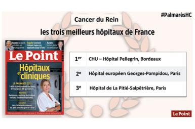 Le traitement du cancer du rein au CHU de Bordeaux, 1er au classement du Point 2021