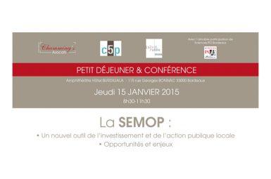 Petit déjeuner conférence sur les sociétés d'économie mixte à opération unique (SEMOP)
