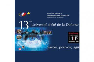 Nouvelle participation à l'Université d'été de la Défense