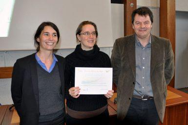 Juliette MERLE reçoit le 5e prix de la chaire !