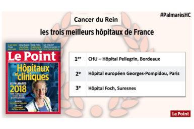 Le service d'Urologie du CHU de Bordeaux, 1er au palmarès national du Point 2018