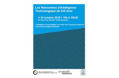 18 octobre : Inscrivez-vous aux rencontres d'Intelligence technologique de VIA Inno !